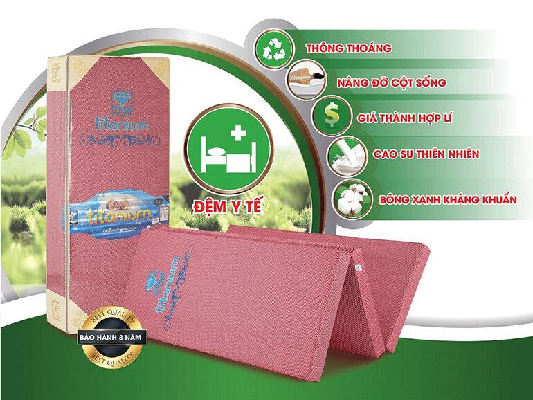 Những ưu điểm của nệm cao su bông gấp 3 Titanium Kim Cương