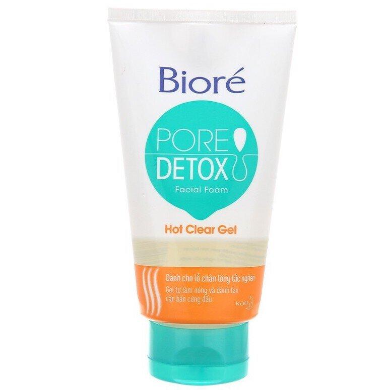 Sữa rửa mặt giá rẻ Biore Pore Detox Hot Clear Gel