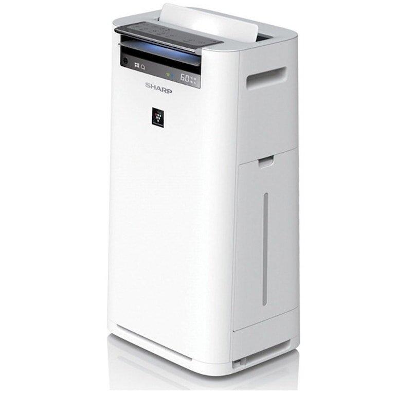 Máy lọc không khí Sharp tạo ẩm KC-G50EV-W hoạt động hiệu quả với hệ thống 3 loại màng lọc không khí.
