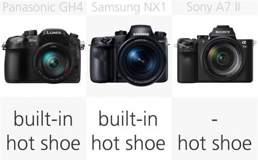 High-end mirrorless camera flash comparison (row 2)