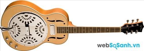 1 chiếc guitar cộng hưởng