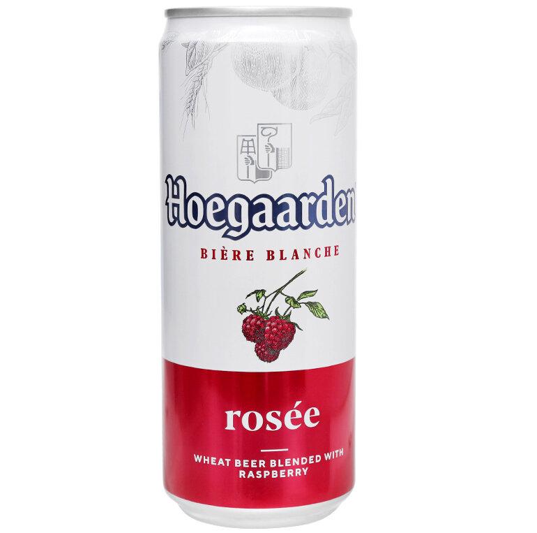 Bia Hoegaarden Rosee nồng độ cồn 3% với vị ngọt tự nhiên từ hoa quả