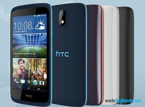 HTC Desire 326G thiết kế bắt mắt với nhiều tuỳ chọn màu sắc
