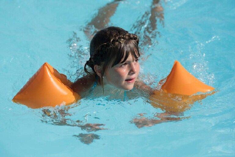 Phao bơi tay trẻ em 30-60kg màu cam