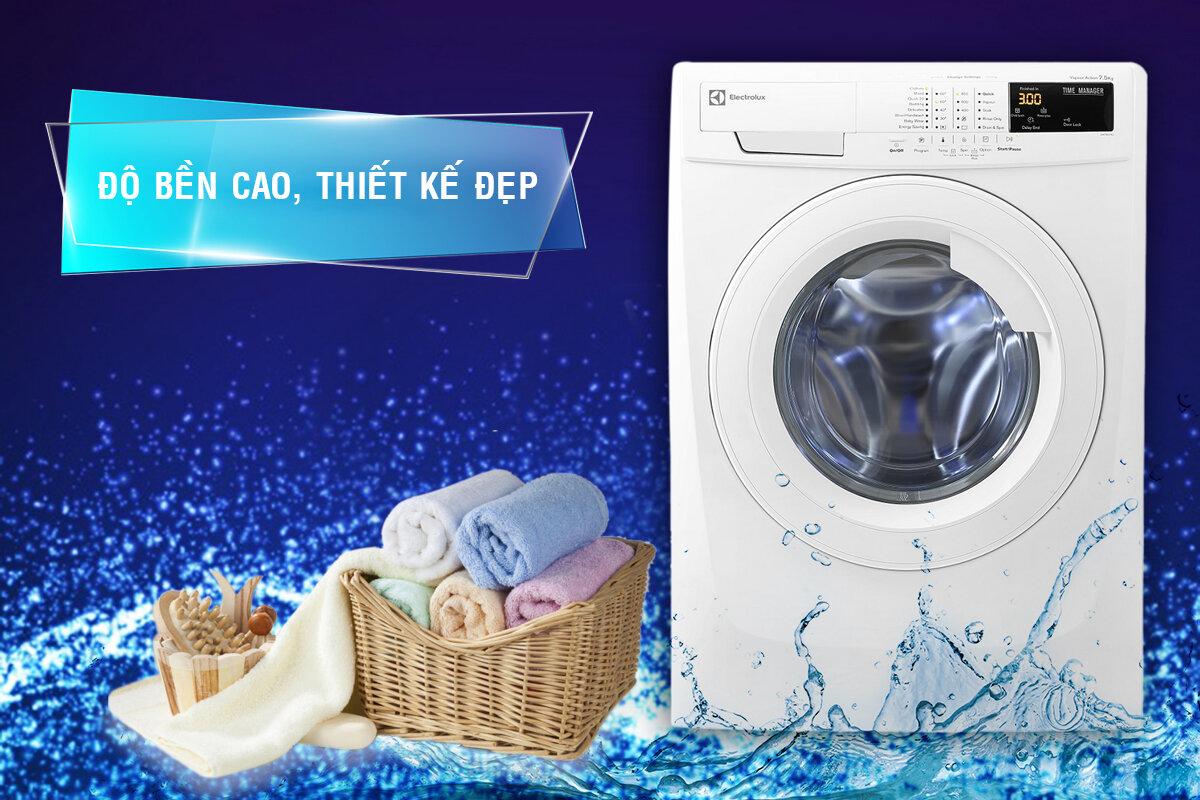 Bảng điều khiển máy giặt Electrolux 10kg hiển thị rõ ràng