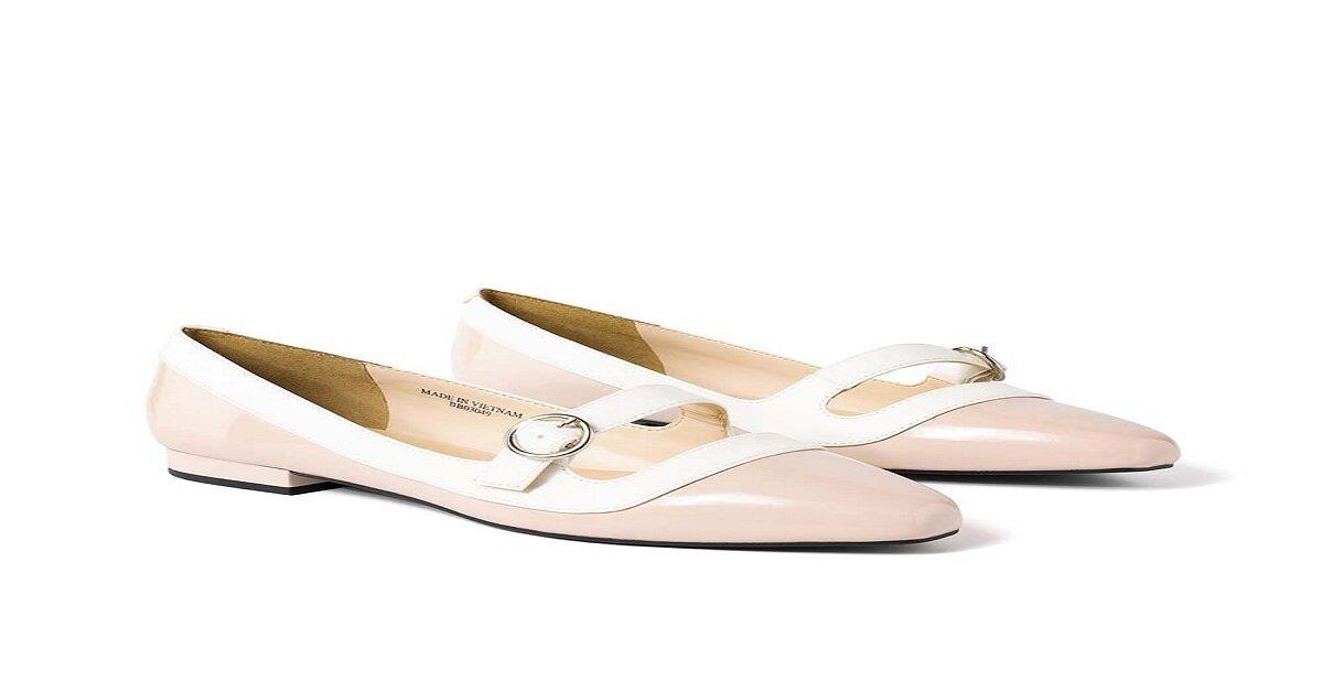 giày búp bê juno màu hồng