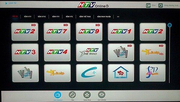 ứng dụng htv xem bóng đá online trên tivi