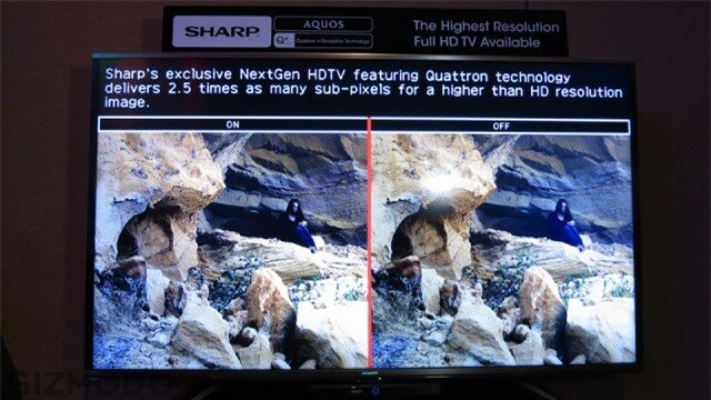 Sharps New Quattron Plus TV Isnt 4K, But It Can Fake It