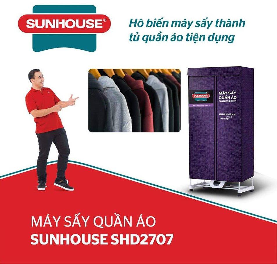 Máy sấy quần áo SHD2707 của Sunhouse chất lượng tốt mà giá cả phải chăng