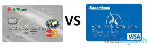 so sánh thẻ tín dụng ngân hàng VPBank và Sacombank