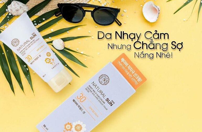 Kem chống nắng dành cho da nhạy cảm The face shop