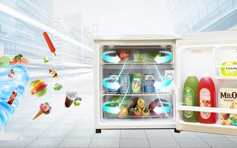 Tủ lạnh Aqua có hệ thống khử mùi, diệt khuẩn tốt.