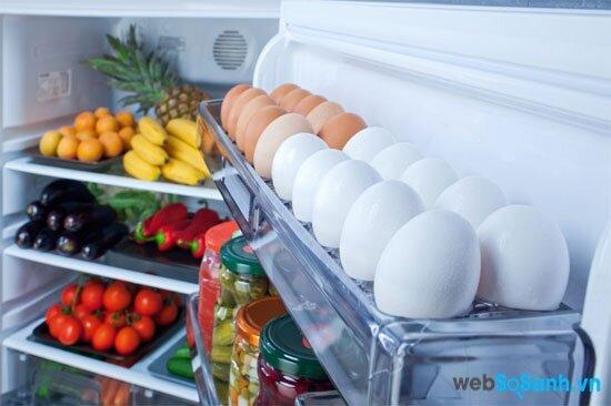 mỗi vị trí tủ lạnh sẽ thích hợp với những loại thực phẩm khác nhau