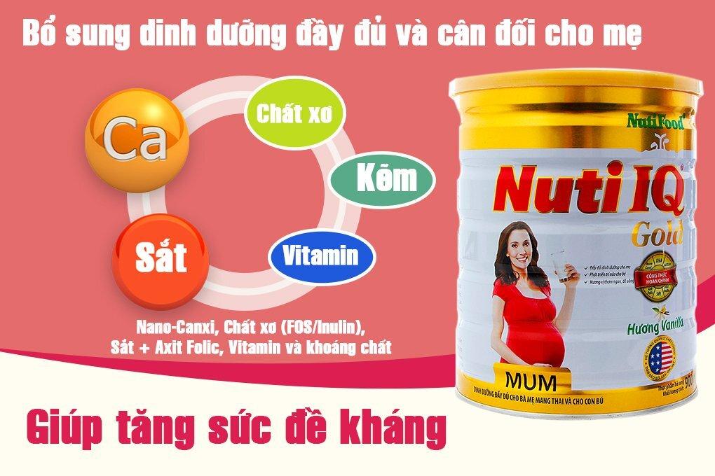 Nuti IQ Gold giúp bé phát triển toàn diện cùng với những dưỡng chất thiết yếu