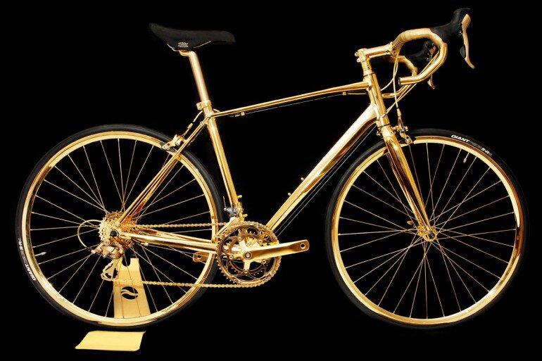 8,2 tỉ đồng là chi phí dát vàng của chiếc xe đạp này