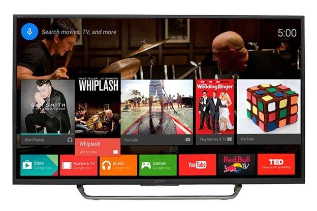 Giao diện Android trên Smart tivi Sony