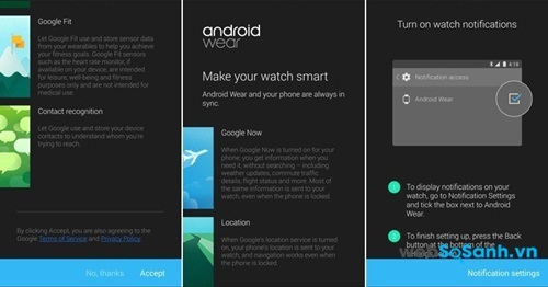 Cài đặt Android Wear