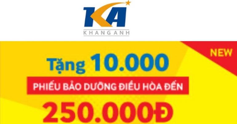 Điện máy Khang Anh tặng 10.000 phiếu bảo dưỡng điều hòa đến 250.000đ cho người tiêu dùng