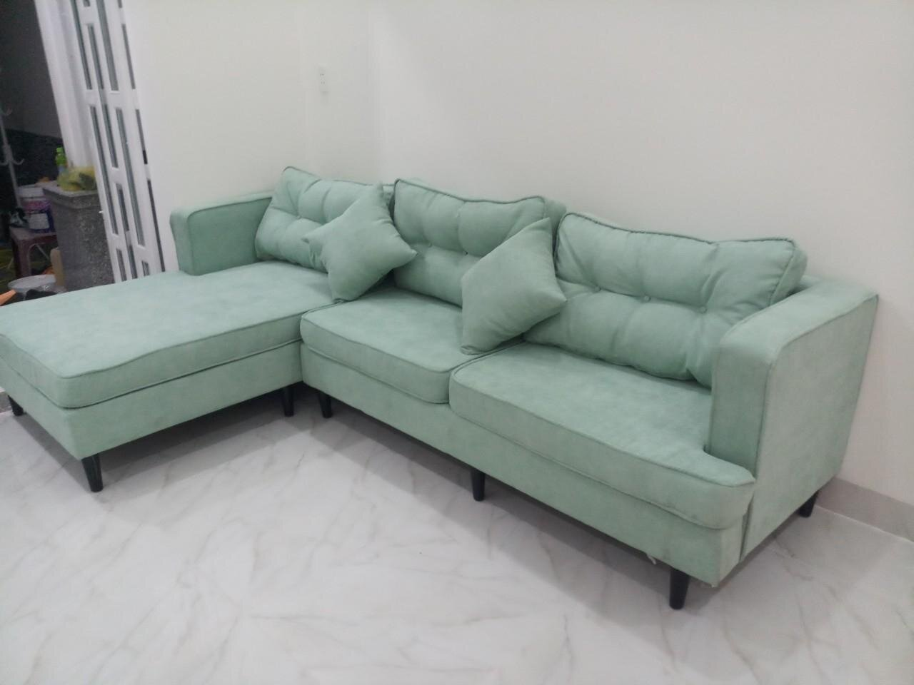 Sofa góc Juno kiểu dáng mới lạ, được bọc vải cao cấp, độ bền cao