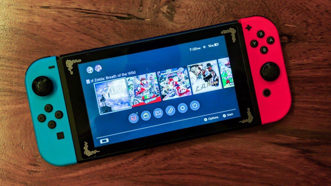 Chiếc máy chơi game Nintendo Switch