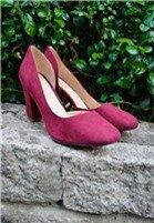 Giày Cao Gót Đế Vuông Da Lộn Khoét Eo cung cấp bởi Kims Shoes & Accessories
