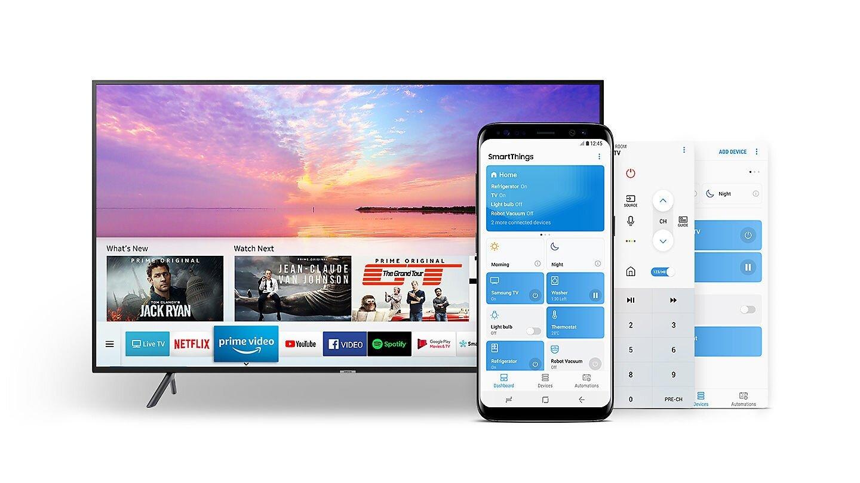 Samsung NU7400 dễ dàng thao tác điều khiển