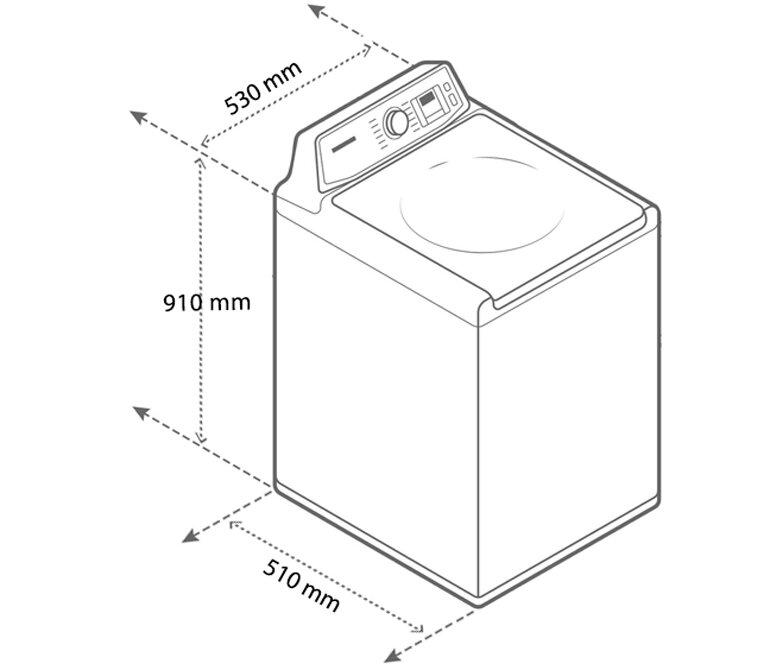 Với kích thước lồng giặt lên đến 7.2kg