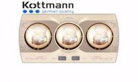 Đèn sưởi nhà tắm Kottmann K3BQ - 3 bóng