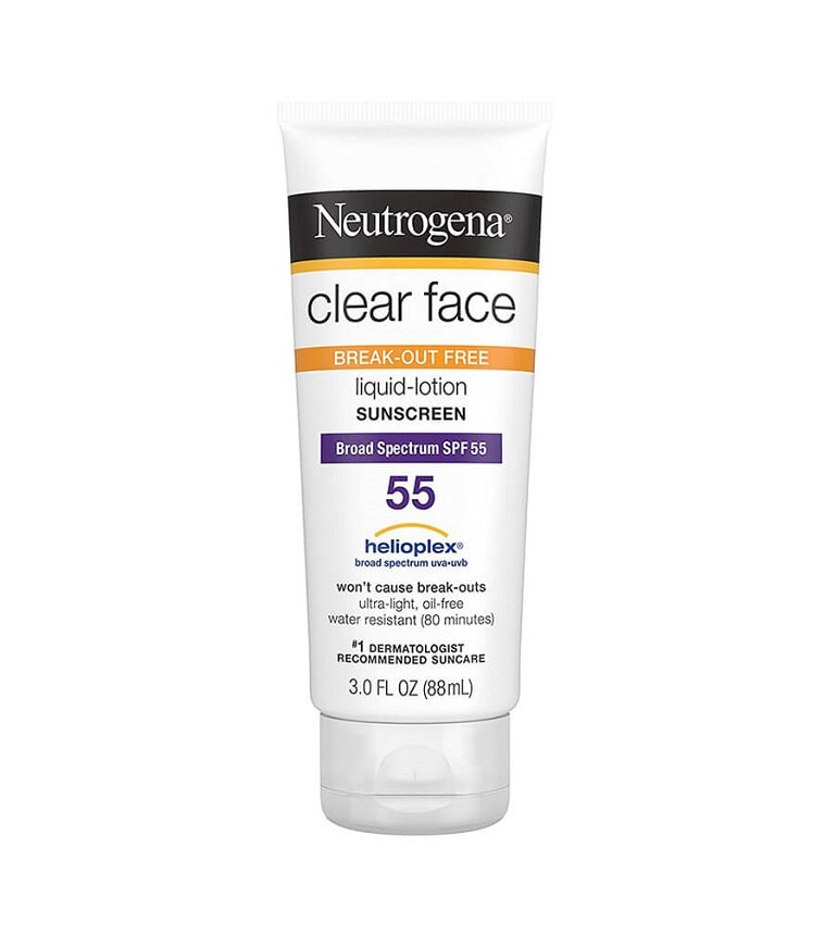 Kem chống nắng Neutrogena Clear Face Break-Out Free Liquid Lotion