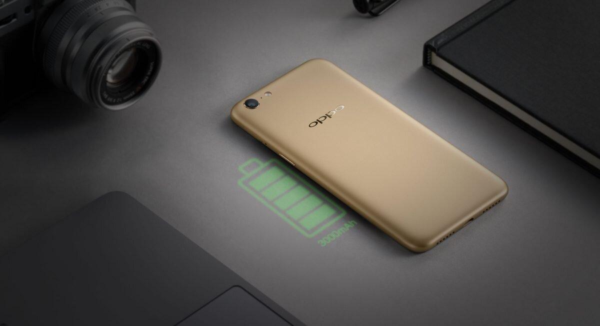 Dung lượng pin cao là điểm nhấn của chiếc Oppo A71K phiên bản 2018