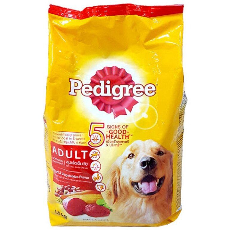 Thức ăn khô giá rẻ cho chó Pedigree thương hiệu uy tín trên thị trường.