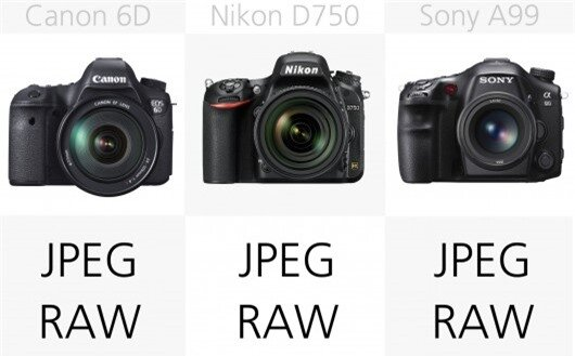 As you would expect, all of these cameras can shoot both JPEG and RAW images