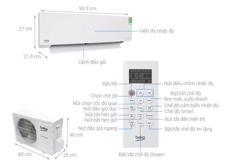 đánh giá máy lạnh điều hòa Beko