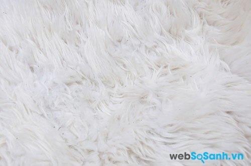 Trước khi giặt chăn lông cừu nên rũ các chất bẩn khô ra khỏi chăn