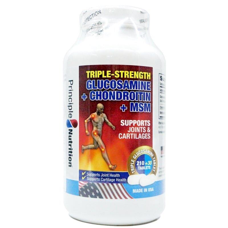 Người cao tuổi dùng Triple-Strength của Principle Nutrition giúp xương chắc khỏe