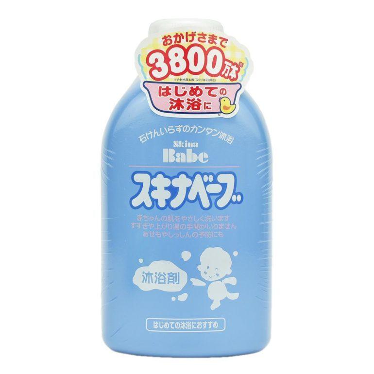 Sữa tắm cho trẻ em của Nhật Skina Babe - Giá tham khảo: 520.000 vnđ/ chai 500ml
