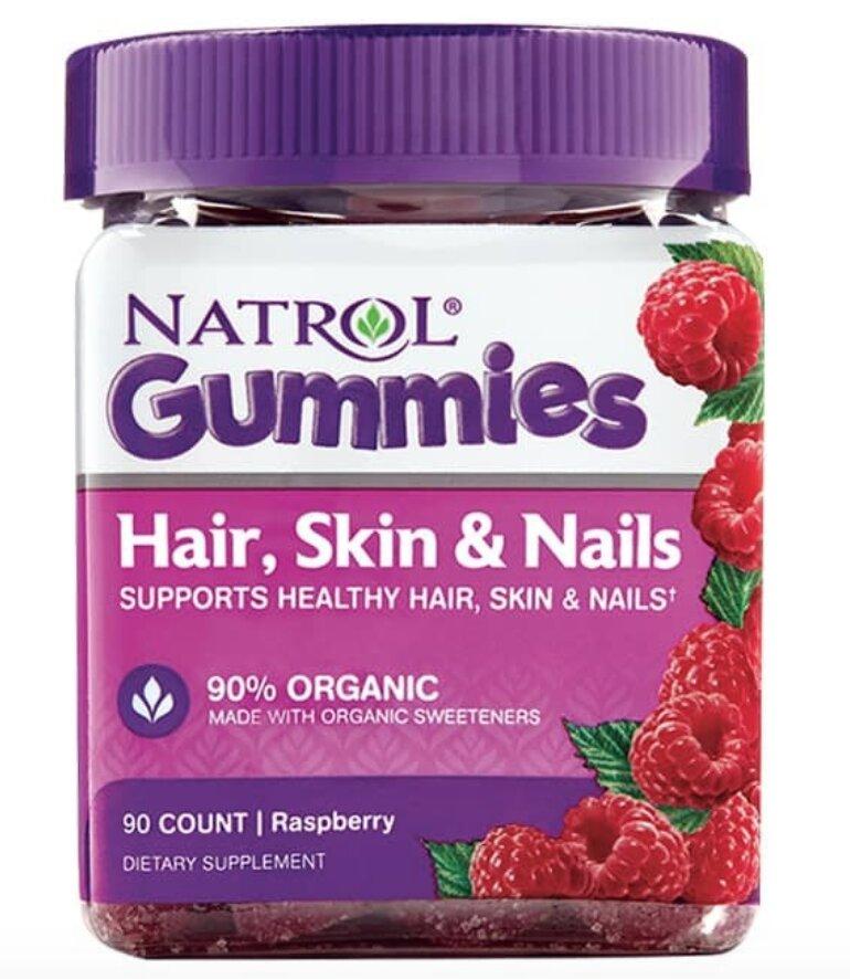Kẹo Dẻo Natrol Gummies Hair, Skin, Nails, Raspberry, 90 Count
