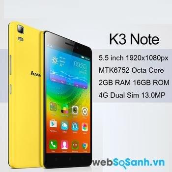 Với mức giá ở phân khúc tầm trung nhưng K3 Note sở hữu cấu hình khủng