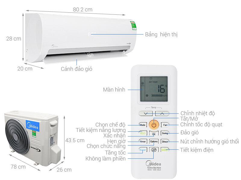 Hướng dẫn điều khiển máy lạnh Midea
