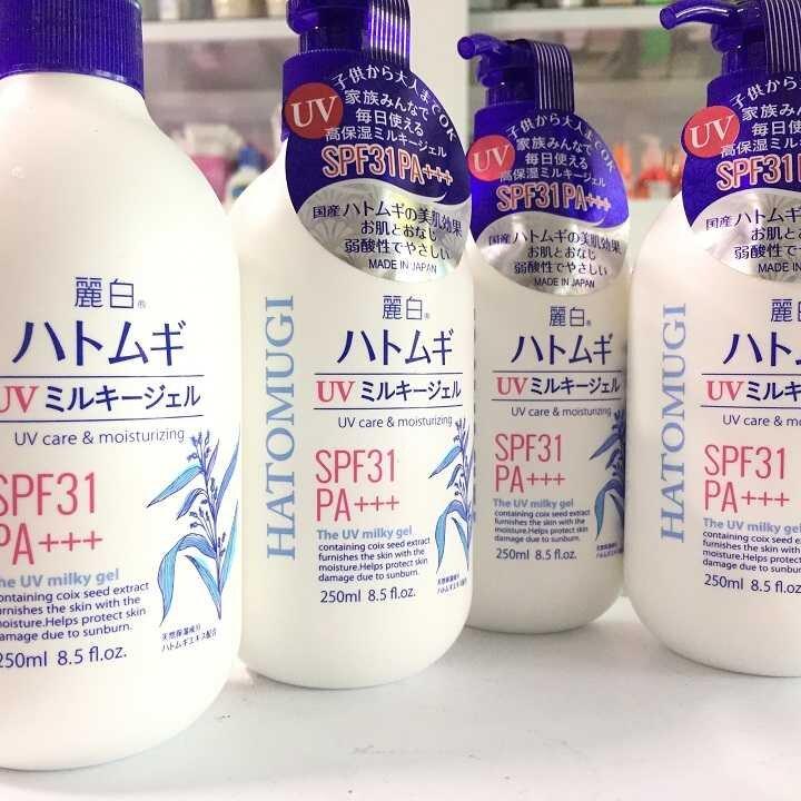 sữa dưỡng thể chống nắng spf50