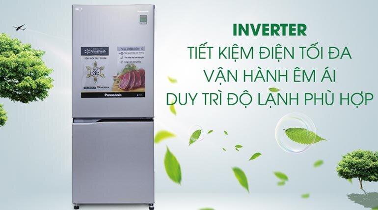 Tủ lạnh Panasonic inverter giúp tiết kiệm điện hiệu quả