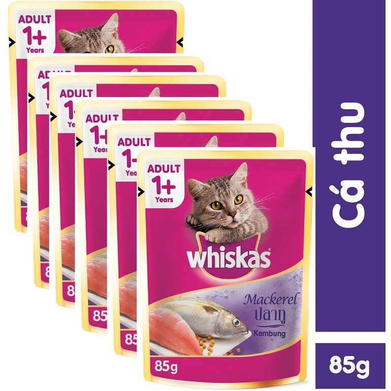 Nên mua thức ăn cho mèo Whiskas chính hãng uy tín