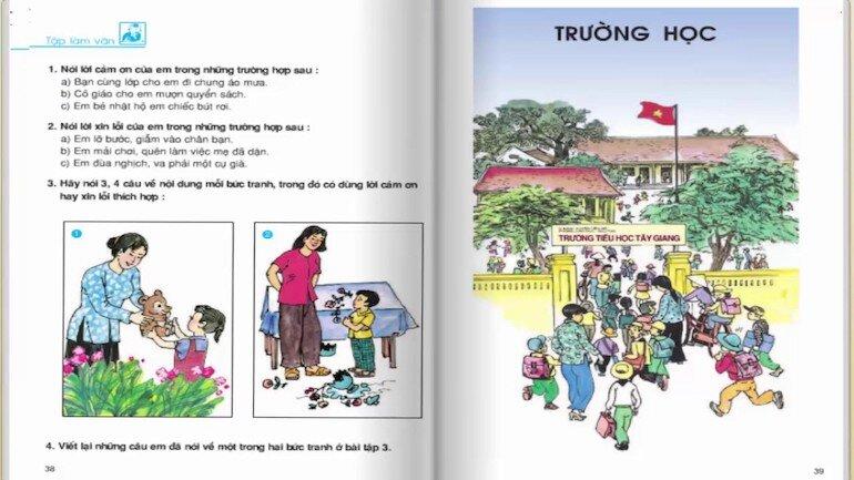 Lưu ý tới nội dung kiến thức của sách giáo khoa tiếng việt lớp 2