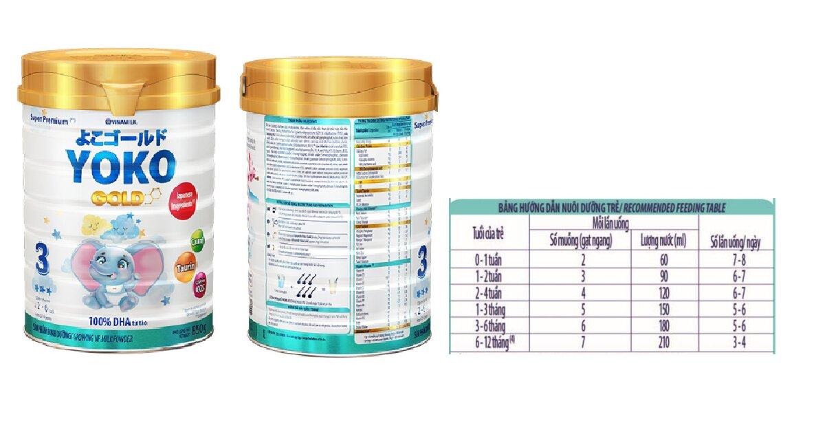 Cách pha sữa Yoko Gold chuẩn tỉ lệ đảm bảo dinh dưỡng tốt cho bé