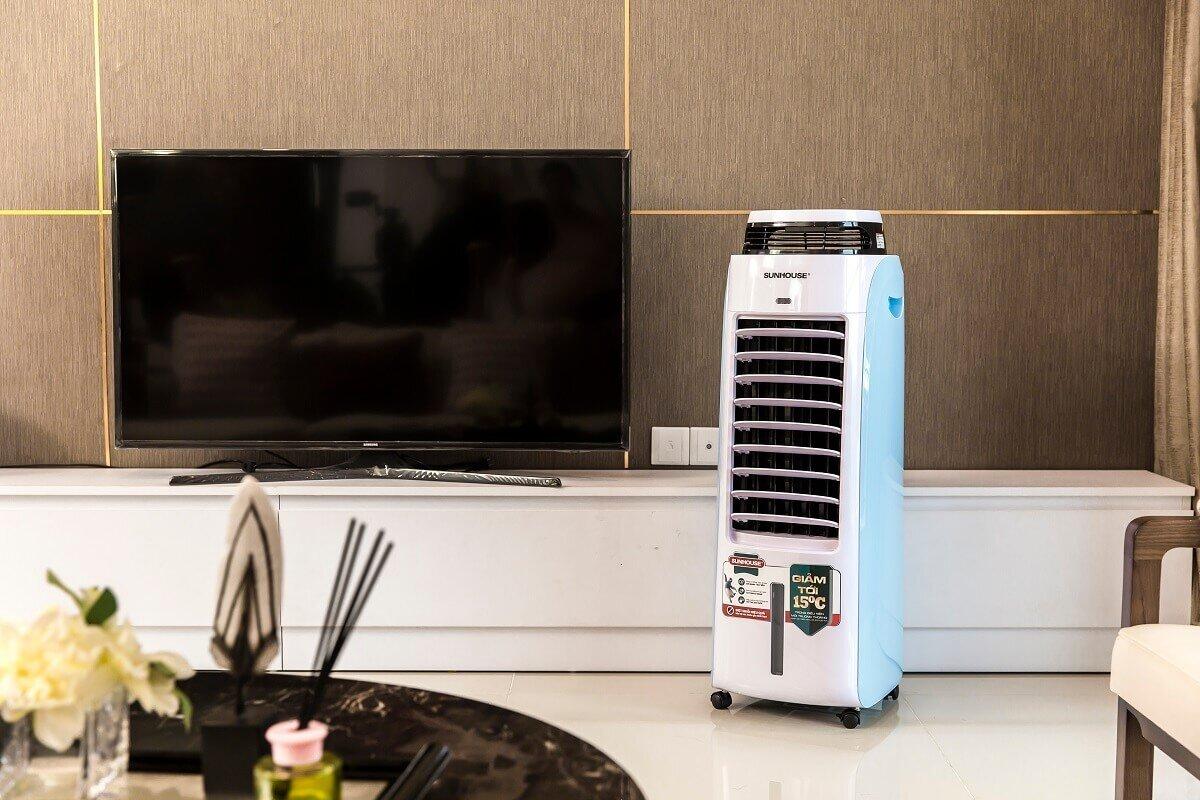 Quạt điều hòa là thiết bị hữu ích cho mùa hè nắng nóng