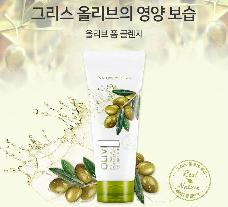 Sữa rửa mặt Olive Real Nature Olive Foam Cleanser