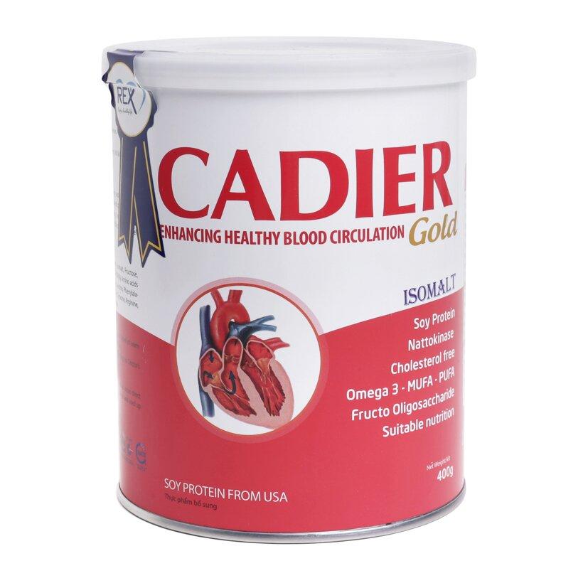 Cadier Gold là loại sữa tốt cho người bị tim mạch và tiểu đường