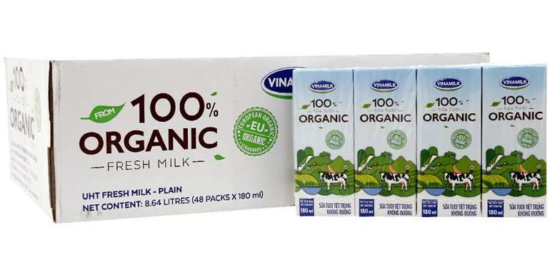 Có mấy loại sữa tươi Vinamilk 100% Organic nguyên chất ?