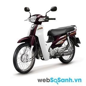 Honda Dream vói màu mận chín truyền thống