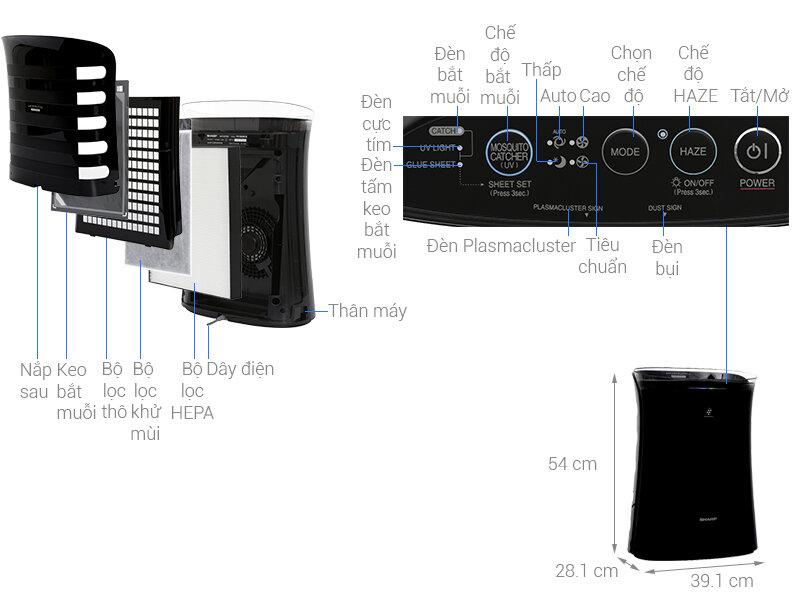 Hướng dẫn chi tiết sử dụng máy lọc Sharp FP-F30E-C